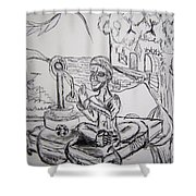 Buddha Basking Shower Curtain