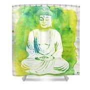 Buddha By Raphael Terra Shower Curtain