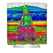 Buddha Dreaming Shower Curtain