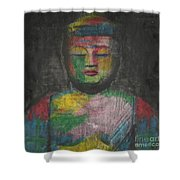 Buddha Encaustic Painting Shower Curtain