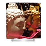 Buddha Heads Shower Curtain