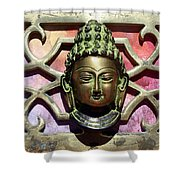 Buddha - Heavy Metal Shower Curtain