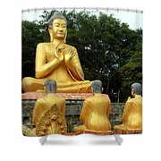 Buddha In Cambodia Shower Curtain