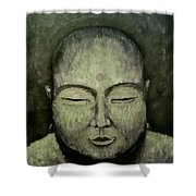 Buddha In Green Shower Curtain