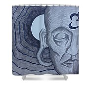 Buddha In Ink Shower Curtain