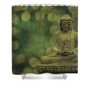 Buddha Light Gold Shower Curtain