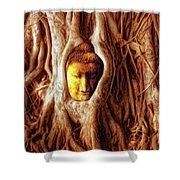 Buddha Of The Banyan Tree Shower Curtain