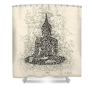 Buddha Pen And Ink Drawing Shower Curtain