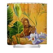 Buddha Sculp Shower Curtain