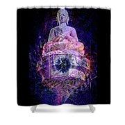 Buddha Spinning In A Merkaba Shower Curtain