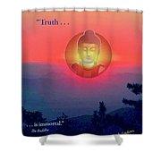 Buddha Sunset Shower Curtain