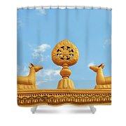 Buddha Symbol Shower Curtain