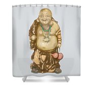 Buddha Shower Curtain by TortureLord Art