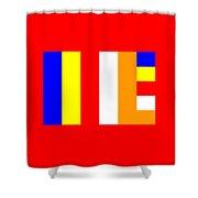 Buddhism Flag Shower Curtain