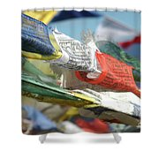 Buddhist Prayer Flags Shower Curtain