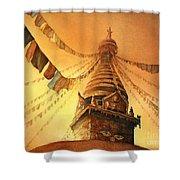 Buddhist Stupa- Nepal Shower Curtain