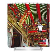 Nord Hoi Temple Ceiling Shower Curtain