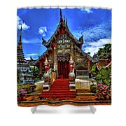Buddhist Temples In Chiang Mai Shower Curtain