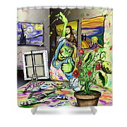 Budding Artist Shower Curtain