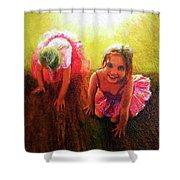 Budding Ballerinas Shower Curtain