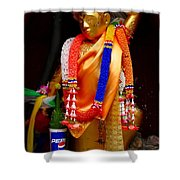 Buddism And Pepsi Shrine Shower Curtain