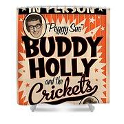 Buddy Holly Shower Curtain