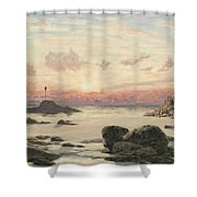 Bude Sands At Sunset Shower Curtain by John Brett