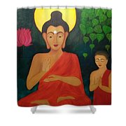 Budha Blessing Shower Curtain