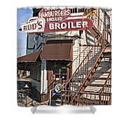 Bud's Broiler New Orleans Shower Curtain