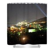 Budva At Night, Montenegro Shower Curtain