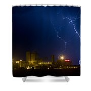 Budweiser Beer Brewery Storm Shower Curtain