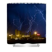 Budweiser  Brewery Storm Shower Curtain