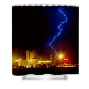 Budweiser Lightning Strike Shower Curtain by James BO  Insogna