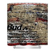 Budweiser Wood Art 5c Shower Curtain