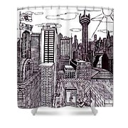 Buenos Aires Year 2065 Shower Curtain