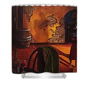 Adobe Walls  Shower Curtain