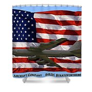 Buff And Flag Shower Curtain