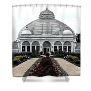 Buffalo And Erie County Botanical Gardens Ink Sketch Effect Shower Curtain