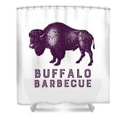 Buffalo Barbecue Shower Curtain