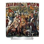 Buffalo Bill: Poster, 1908 Shower Curtain