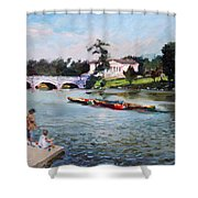 Buffalo  Fishing Day Shower Curtain