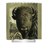 Buffalo Head Shower Curtain