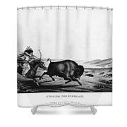 Buffalo Hunt, 1837 Shower Curtain