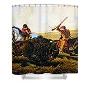 Buffalo Hunt, 1862 Shower Curtain