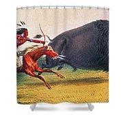 Buffalo Hunt, C1832 Shower Curtain