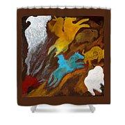 Buffalo Hunt  -021 Shower Curtain
