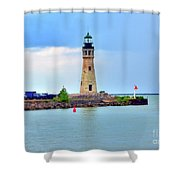 Buffalo Lighthouse Shower Curtain by Kathleen Struckle