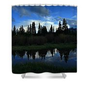 Buffalo Mountain At Sunset Shower Curtain