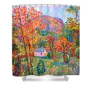 Buffalo Mountain In Fall Shower Curtain