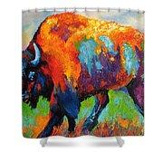 Buffalo On Weed Shower Curtain